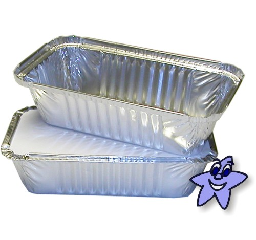 100 X No6a Takeaway Aluminium Foil Food Containers Lids
